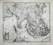 Indonesia India Philippines Asia China Map Karte Engraving Kupferstich 1720
