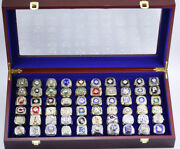 60 Rings Collection Of World Series Championship Set With Wooden Box