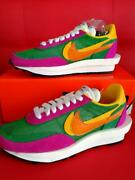 Nike X Sacai Auth Ld Waffle Pine Green Sneakers Shoes Us 9 About 27cm New