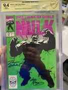 Incredible Hulk 377 3x Signed Cbcs 9.4 With A Check