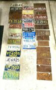 Michigan License Plate Lot 37 Different Years