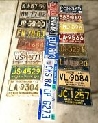 Michigan License Plate Lot 21 Different Years