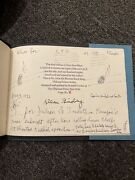 Rare Vintage 1972 New Year Blues Allen Ginsberg Signed Drawing Poetry Book X/26