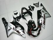 Black Silver Jordan Abs Injection Fairing Kit Fit For 2000 - 2002 Gsxr1000