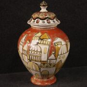 Italian Vase Signed And Dated In Ceramic Object Furniture Antique Style Cup