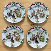 Charter Club Winter Garland Merry Christmas Accent Luncheon Plate Set Of 4