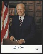 Gerald Ford President Signed Auto 8x10 Photo Autograph Jsa Certified