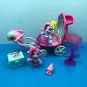 My Little Pony G3 Ponyville Mermaid Dolphin Carriage Playset Figures Bundle