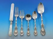 Radiant By Whiting Sterling Silver Flatware Set For 6 Service 36 Pieces