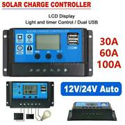 Pwm Solar Panel Regulator Charge Controller Auto Focus Tracking 30-100a 12v/24v