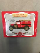 Sinclair Model A Pumper 1/25 Scale In New In Box Die Cast Metal Coin Bank