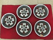 1970 1971 1972 1973 Ford Mustang Mach 1 Deep Dish Hubcaps Wheel Covers Set Of 5