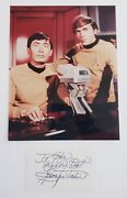 George Takei Signed 3 X 5 Inch Index Autographed With 8x10 Photo Star Trek