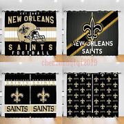 2panel New Orleans Saints Window Curtains Fans Drapes For Living Room Home Decor