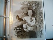 Autographed 8x10 Picture- Roy Rogers And Dale Evans--dual Signed