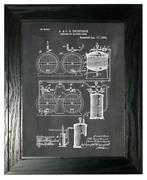 Process Of Making Beer Patent Print Chalkboard In A Black Pine Frame