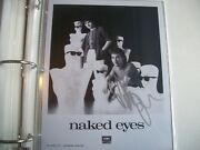 Autographed 8x10 Picture--peter Byrne- Naked Eyes 1980's Band Singer