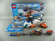 Lego City Coast Guard Helicopter 7738 / 7737 100 Complete W/ Box + Manuals Lot