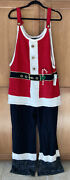 New United States Sweaters Ugly Christmas Santa Mrs Jumpsuit Xl Womens Overalls