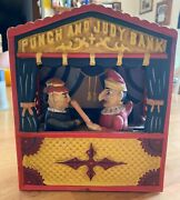 Punch And Judy Cast Iron Mechanical Bank From The Collection In Book Of Knowledge