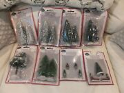 Cobblestone Corners Christmas Village - Figurines And Trees - 1 Lot, 99 Packets
