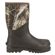 Hisea Menand039s Boots Mid-calf Working Boots Insulated Rain Snow Muck Hunting Boots