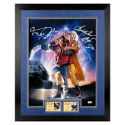 Michael J. Fox Christopher Lloyd Autographed Back To Future 16x20 Framed Photo