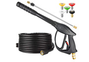 High Pressure Washer Power Spray Gun Kit 3200 Psi Nozzle Extension Wand Hose M22
