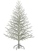 6'hx42d Tinsel Artificial Christmas Tree On Metal Stand Antique Silver Holiday