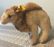 Vintage Steiff Hocky Camel With Both Button And Tags 1453/14- No Reins