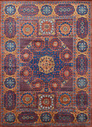 Village Mamluk Rug 10and039x14and039 Red/brown Hand-knotted Wool Pile