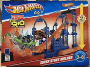 Fisher Price Trio Hot Wheels Stunt Ramp Builder Age 3-8 New Factory Sealed