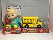 Cocomelon Bedtime Jj Doll And Yellow School Bus