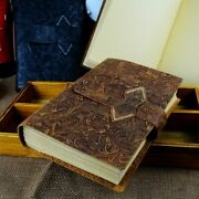 Vintage Handmade Leather Diary Notebook Sketchbook Travel Journal Writing Paper