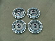 1965-70 Chevy Ss Wheel Covers Set 4 2 With Spinners 2 W/o Nos Nova Impala