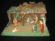 Vintage Goebel Nativity Set Hx281 West Germany Circa 1958 10 Pieces And Stable