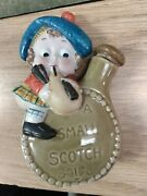 Porcelain Whiskey Nipper Flask A Small Scotch Scottish Figural Playing The Jug