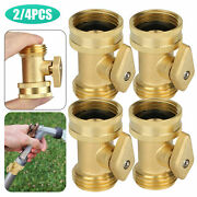 2/4pcs Brass Garden Nozzle Hose Connector Shut Off Water Pipe Solid Valves Tools