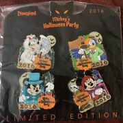 Disney Pin Mickey Minnie Mouse Goofy Donald Halloween Party Le 1000 Pins Set/lot