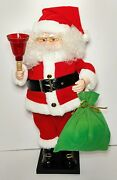 Vintage Telco Motionettes Of Christmas 25 Animated Santa W/ Light Up Bell Rare