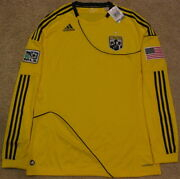 Columbus Crew July 4th Usa Special Edition Long Sleeve Jersey Kit Men L Large