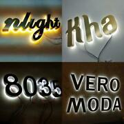 Outdoor 3d Customized Stainless Steel Backlit Led Sign Letters