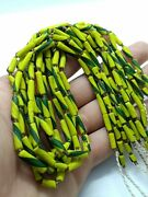 Antique Roman Glass 1 Strand Of Spacer Loose Multi Color Beads Jewelry Supplies
