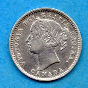 Canada 1894 10 Cents Ten Cent Silver Coin - Very Fine Cleaned
