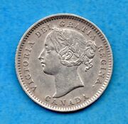 Canada 1896 10 Cents Ten Cent Silver Coin - Ef Cleaned
