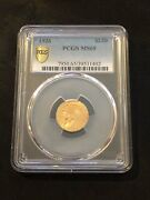 1926 Pcgs Ms 65 Gold Indian Quarter Eagle 2.50 Nfc Security New Gold Label Coin