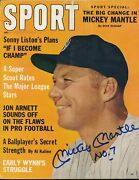 Mickey Mantle Signed July 1962 Sport Magazine Autograph Auto Psa/dna Ah03581