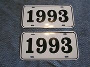 1993 Year License Plates Fits Buick Cadillac Chevrolet Pontiac Oldsmobile 2pc