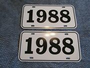 1988 Year License Plates Fits Buick Cadillac Chevrolet Pontiac Oldsmobile 2pc