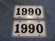 1990 Year License Plates Fits Buick Cadillac Chevrolet Pontiac Oldsmobile 2pc